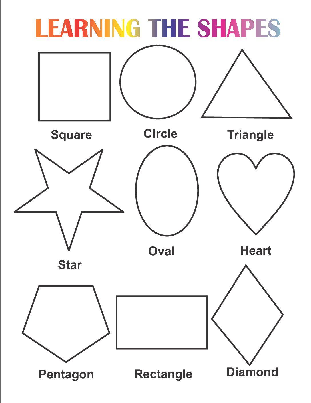 Learn Shapes Worksheets For Kindergarten Free